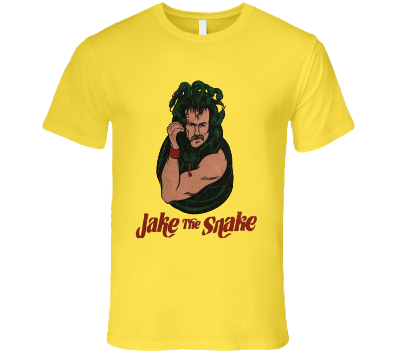 Jake The Snake Retro Wrestling Snake Head Retro Wrestling Fan T Shirt