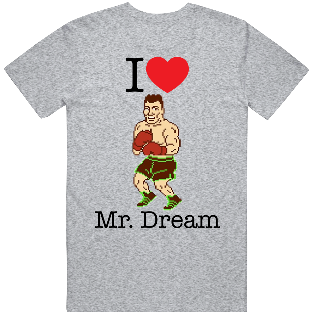 Mr Dream I Love Heart Mike Tyson's Punch Out Video Game Boxing T Shirt