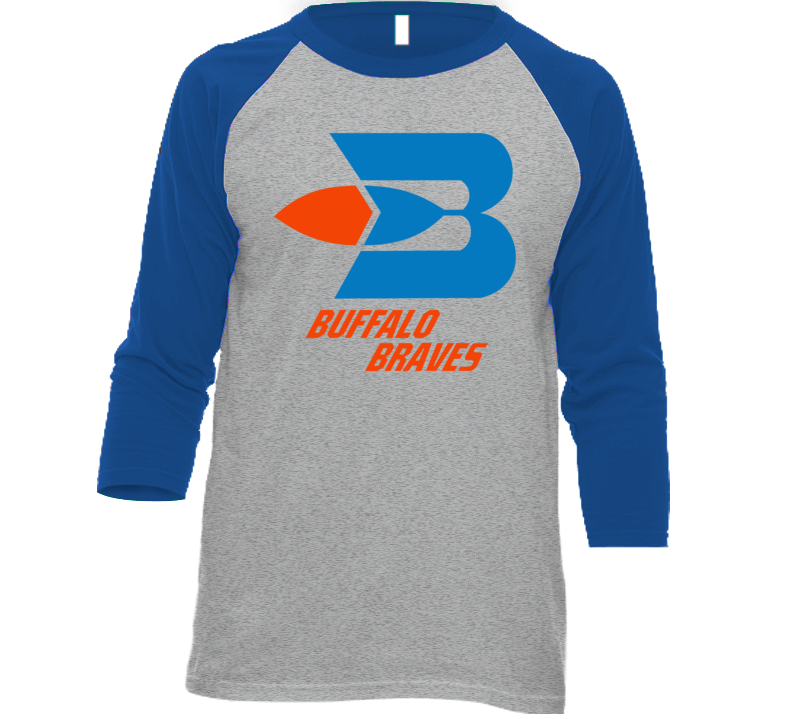 Buffalo Braves Retro 70's Basketball Retro Baseball Raglan T Shirt