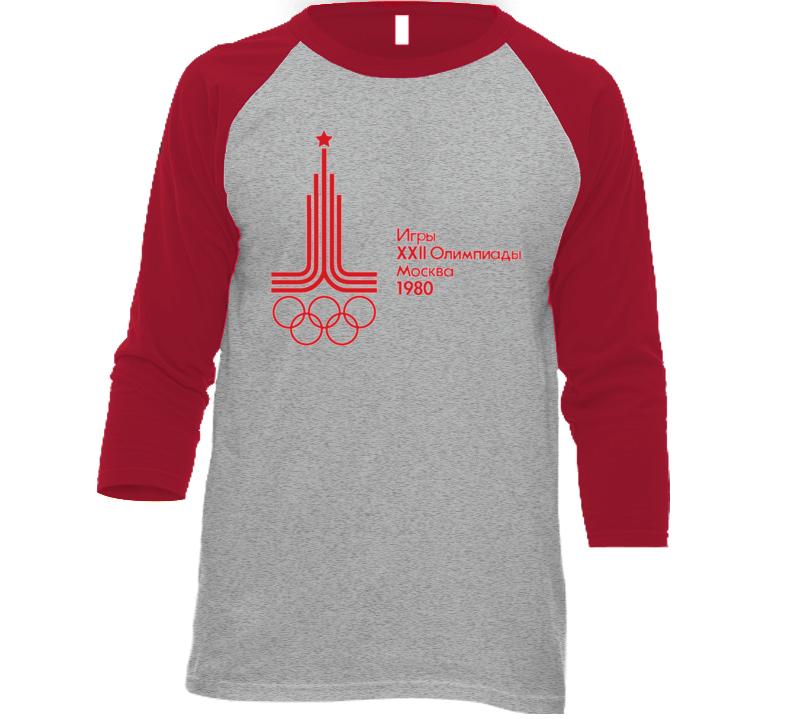 Moscow Olympics 1980 Olympiad Retro Baseball Raglan T Shirt