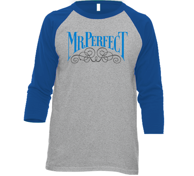 Mr Perfect Curt Hennig Logo Wrestling Retro Baseball Raglan T Shirt
