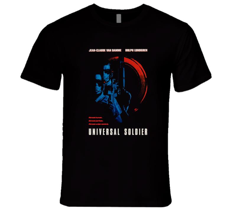 Universal Solider Van Damme Lundgren Retro Action Movie T Shirt