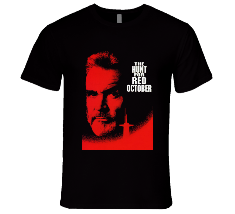 Hunt For Red October Connery 90's Action Movie T Shirt