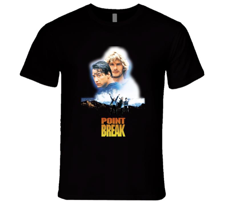 Point Break Reeves Swayze 90's Retro Action Movie T Shirt