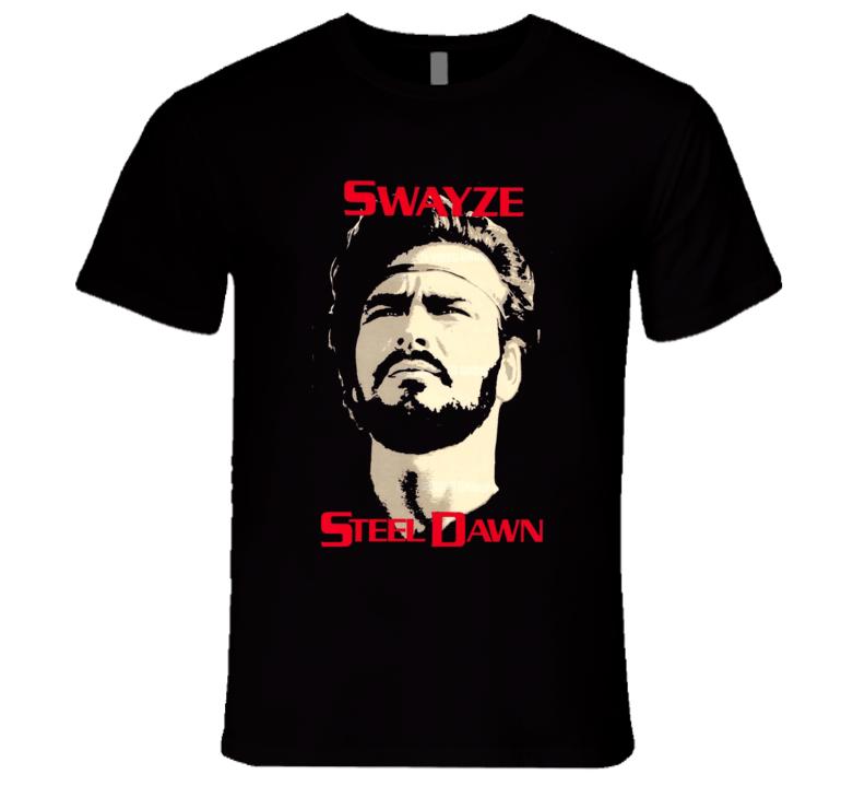 Steel Dawn Swayze 80's Retro Action Movie T Shirt