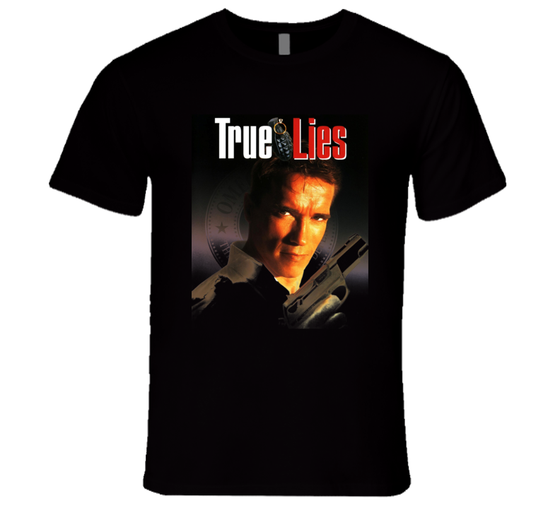 True Lies Schwarzenegger 90's Retro Actino Movie T Shirt