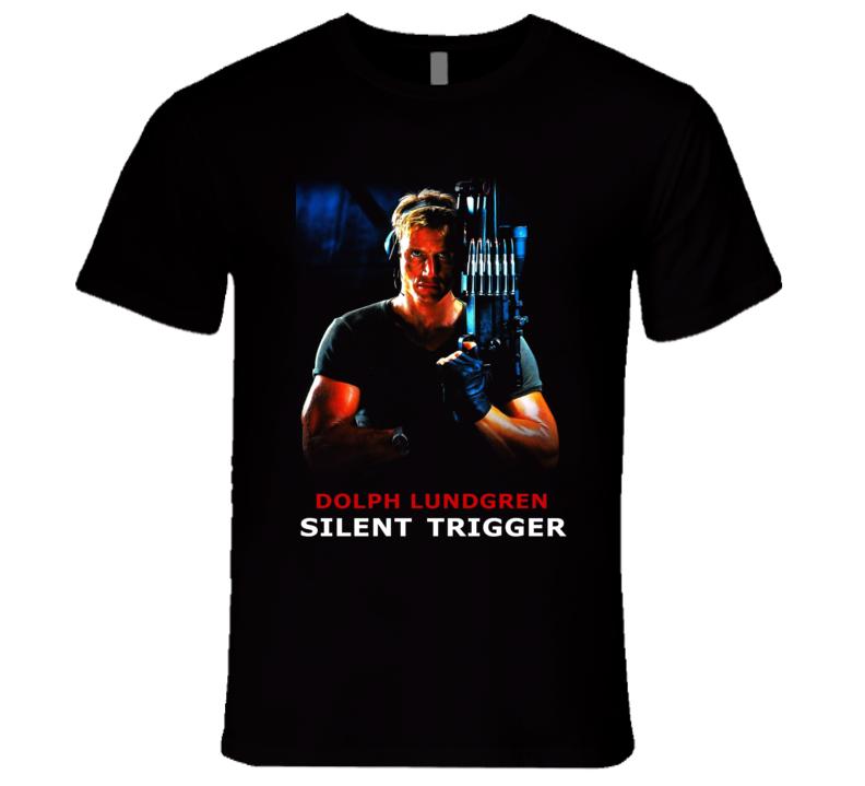 Silent Trigger Lundgren 80's Retro Action Movie T Shirt
