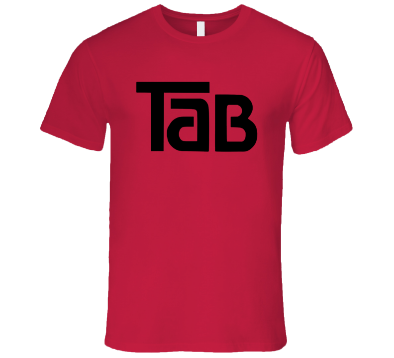 Tab Classic Beverage Soda Cola Black Logo Retro T Shirt