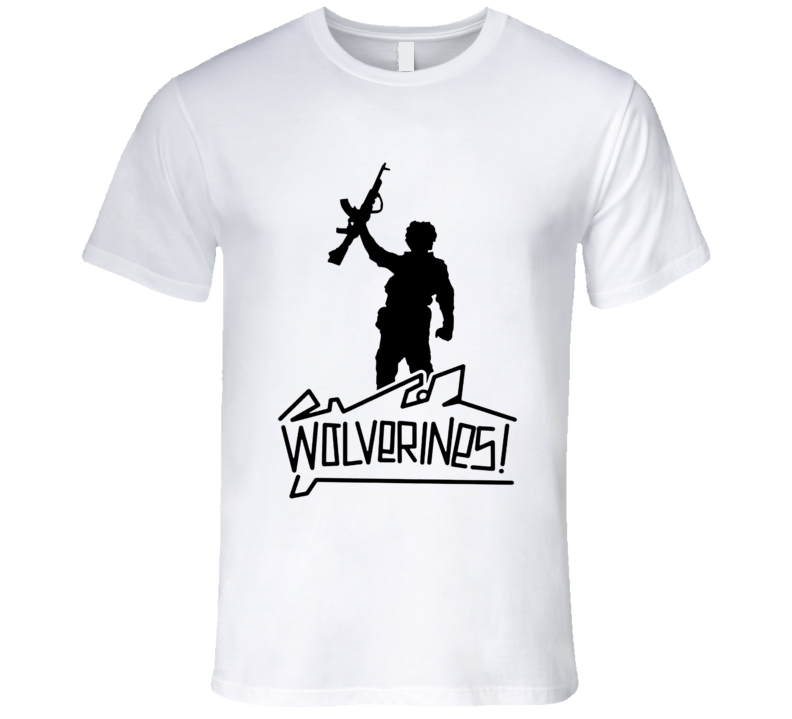 Red Dawn Wolverines Swayze Retro 80's Action Movie T Shirt