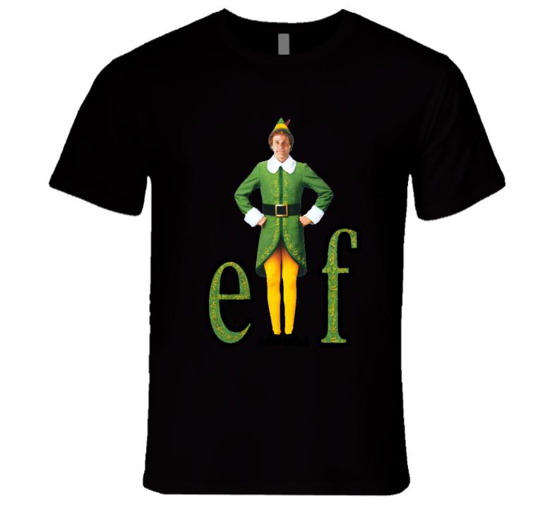 Elf Christmas Classic Ferrell Family Comedy Movie T Shirt