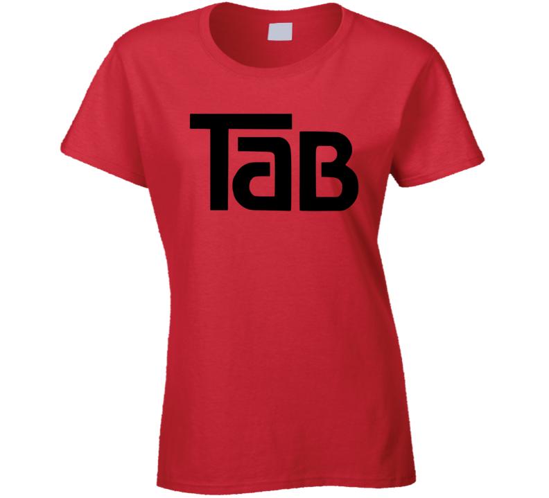 Tab Cola Retro Beverage Drink 80's Cool Ladies T Shirt