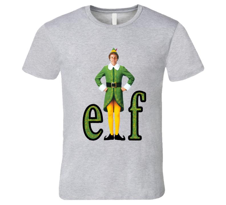 Elf Retro Christmas Family Comedy Ferrell Movie T Shirt