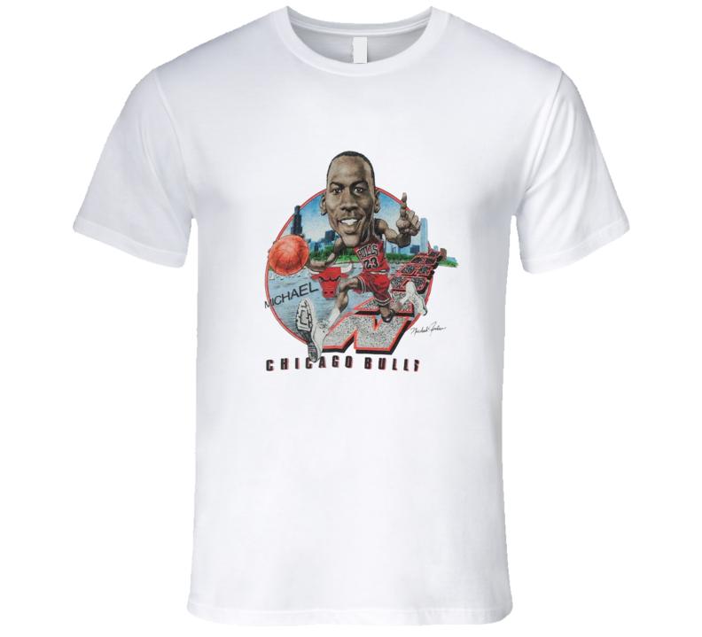 Michael Jordan Caricature Basketball Retro Chicago Goat T Shirt