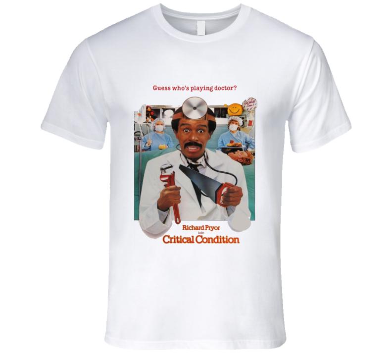 Critical Condition Pryor Retro 80's Comedy Movie T Shirt