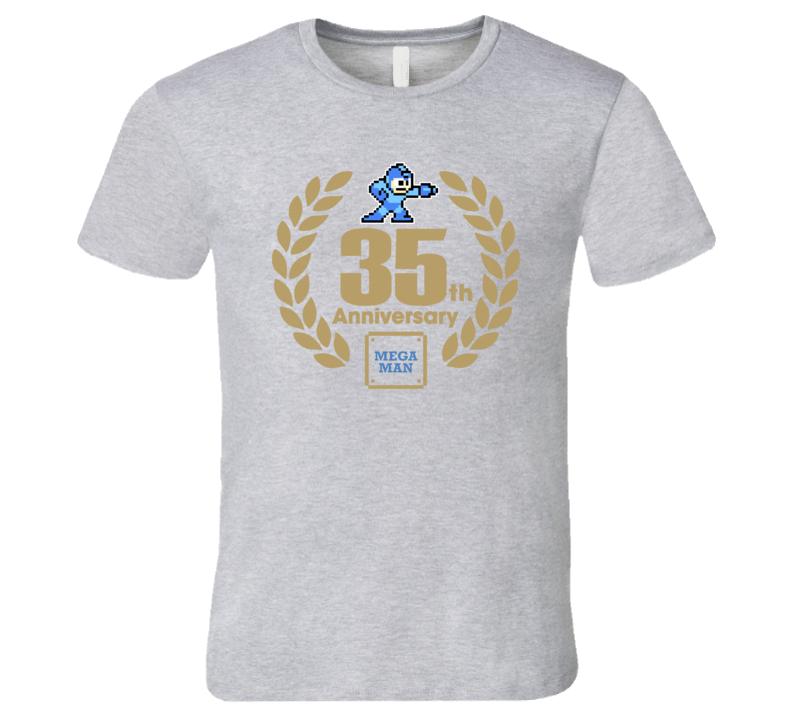 Mega Man 35th Anniversary Retro Video Game T Shirt