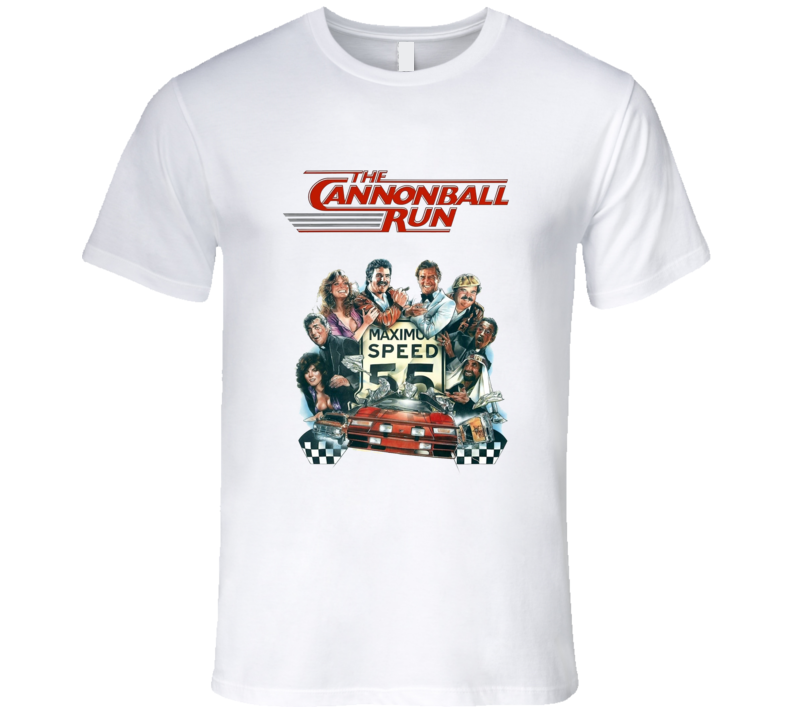 The Cannonball Run Retro Reynolds 80's Comedy Movie T Shirt