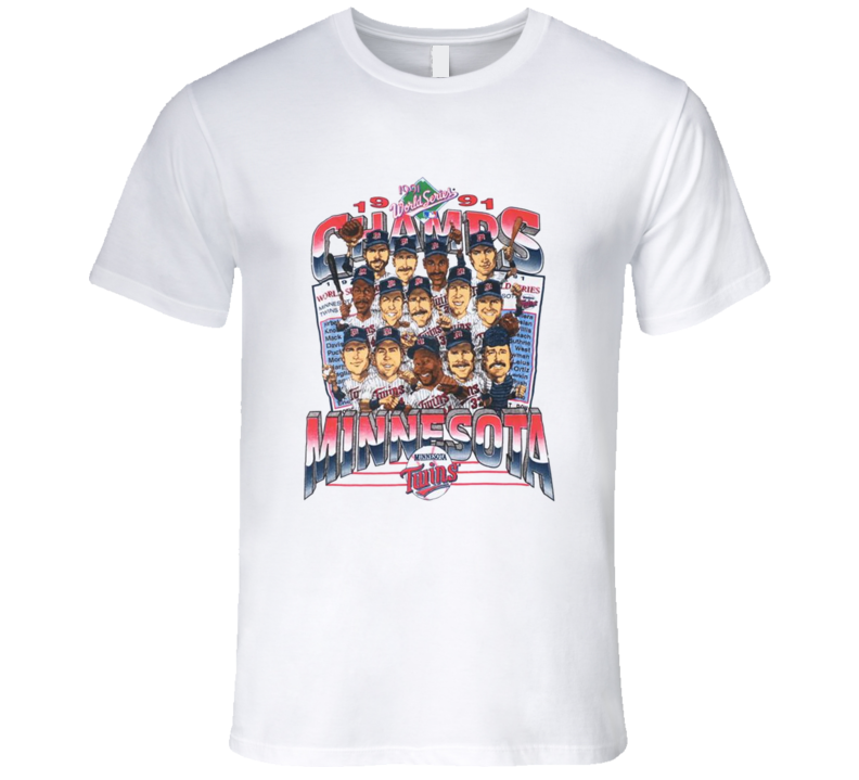 Minnesota Baseball 1991 Champs Retro Caricature T Shirt