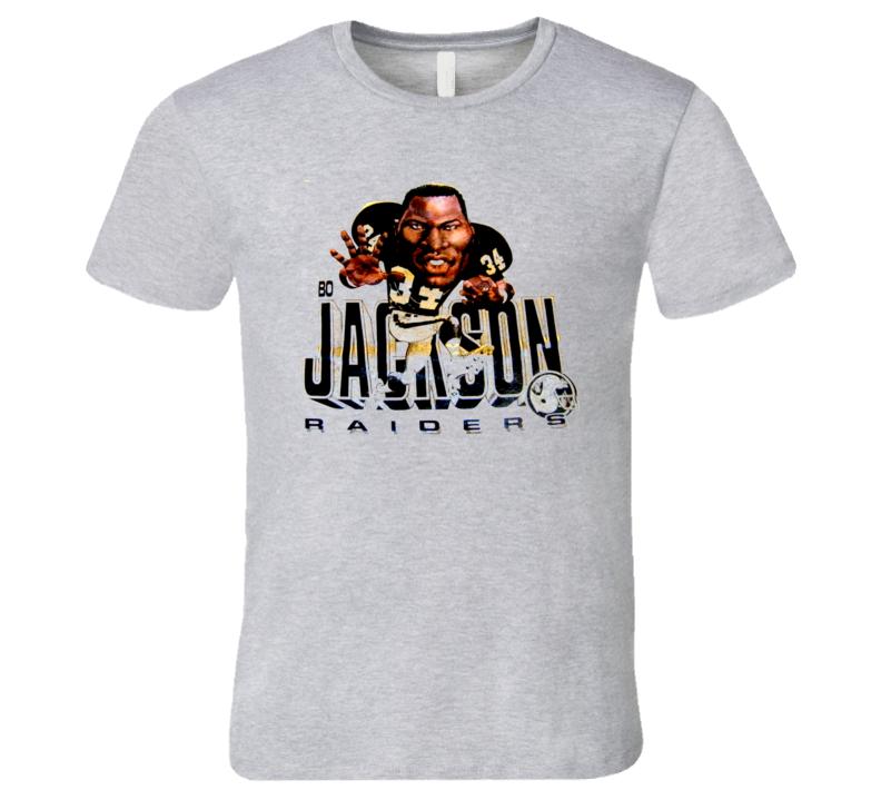 Bo Jackson Retro Caricature Football Oakland T Shirt