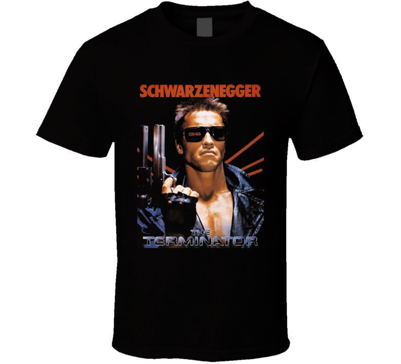 The Terminator 1984 Arnold Schwarenegger Retro Movie T Shirt