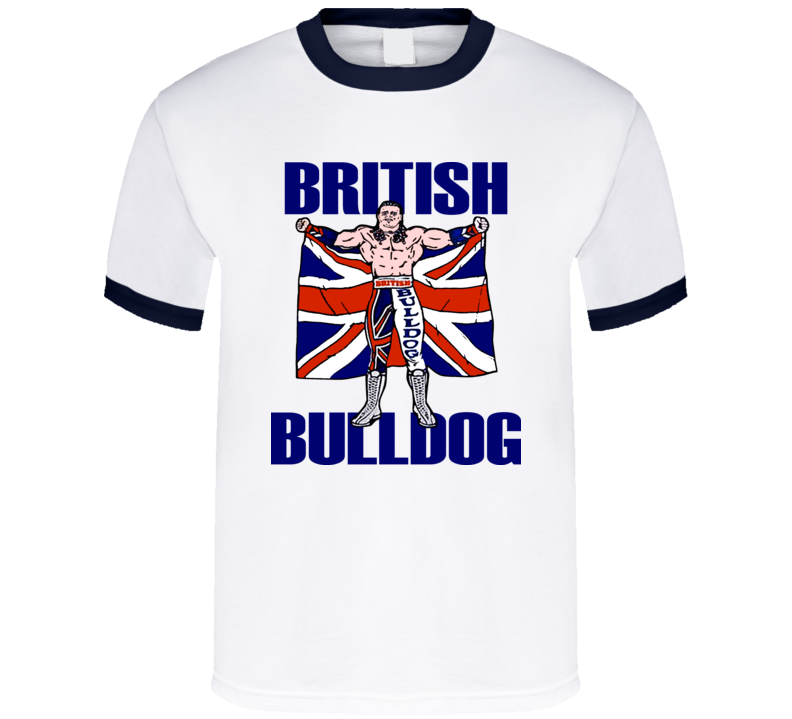The British Bulldog Retro Wrestling T Shirt