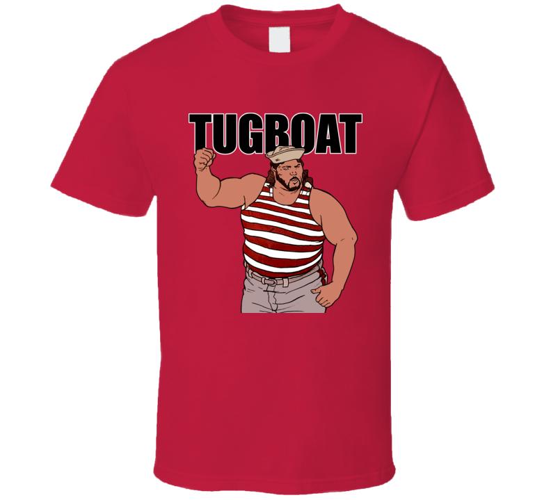 Tugboat Retro Wrestling T Shirt