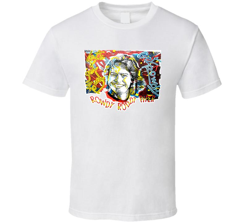Rowdy Roddy Piper Retro Wrestling T Shirt