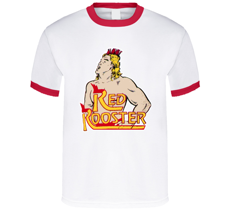 Red Rooster Retro Wrestling T Shirt