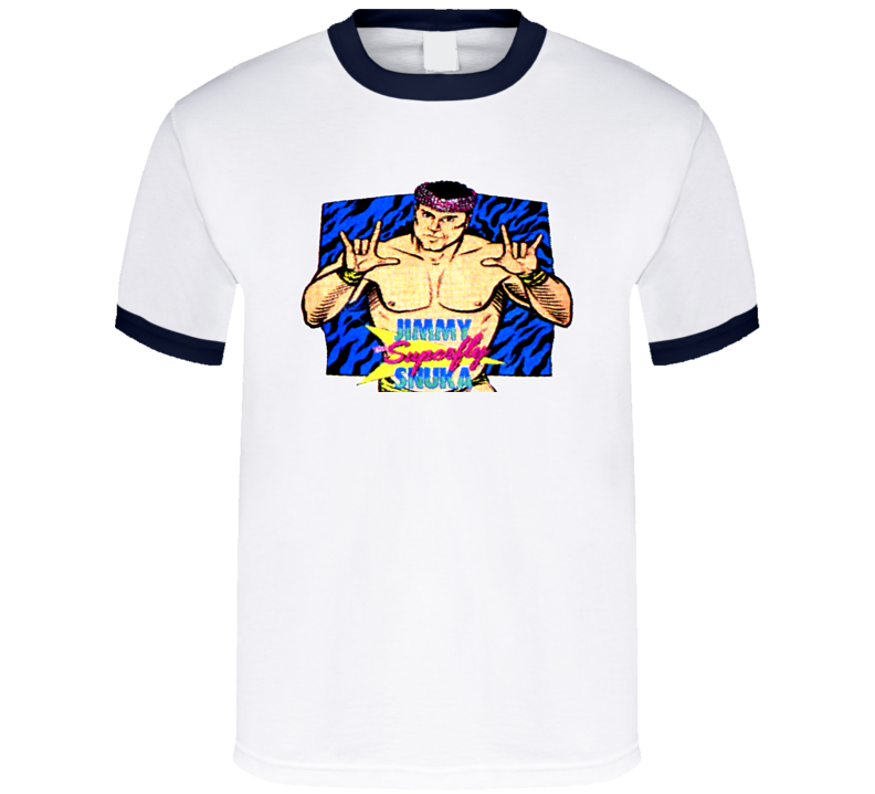 Jimmy Superfly Snuka Retro Wrestling T Shirt