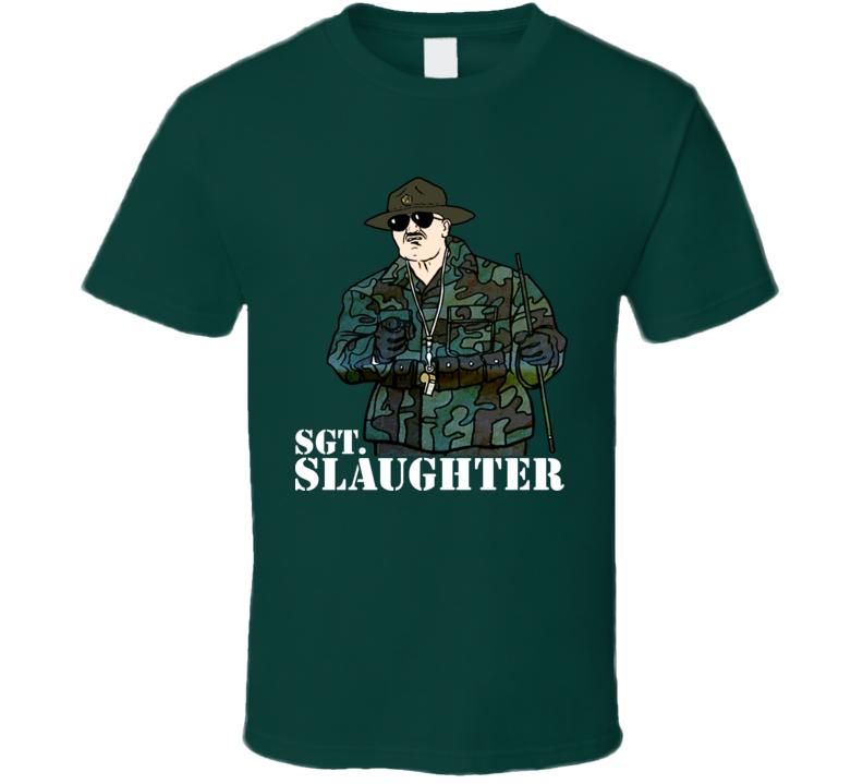 Sgt Slaughter Retro Wrestling T Shirt