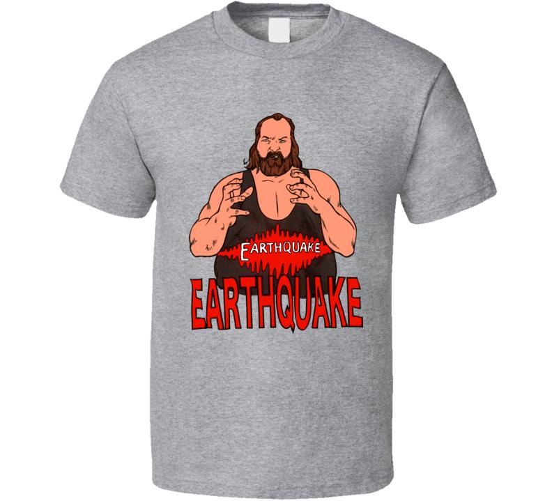 Earthquake Retro Wrestling T Shirt