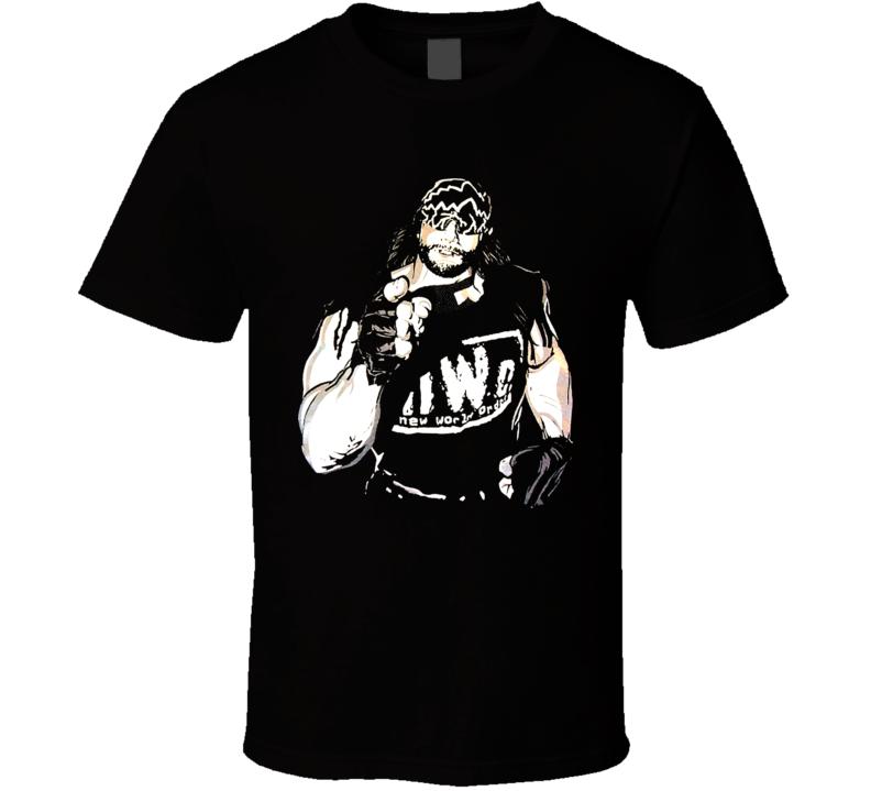 Macho Man Nwo Retro Wrestling T Shirt