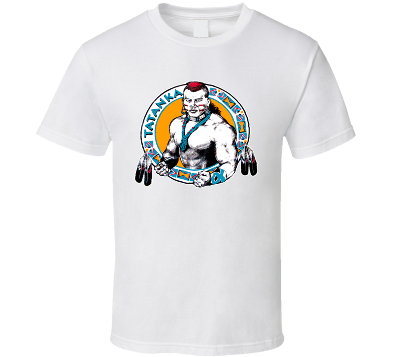 Tatanka Wrestling Legend Retro T Shirt