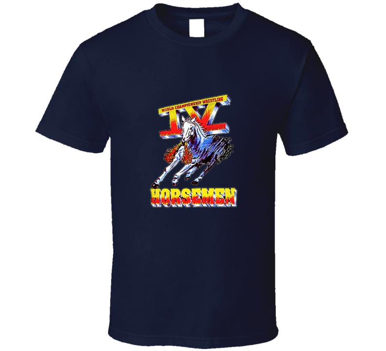 Four Horsemen WCW Retro Wrestling T Shirt - NAVY