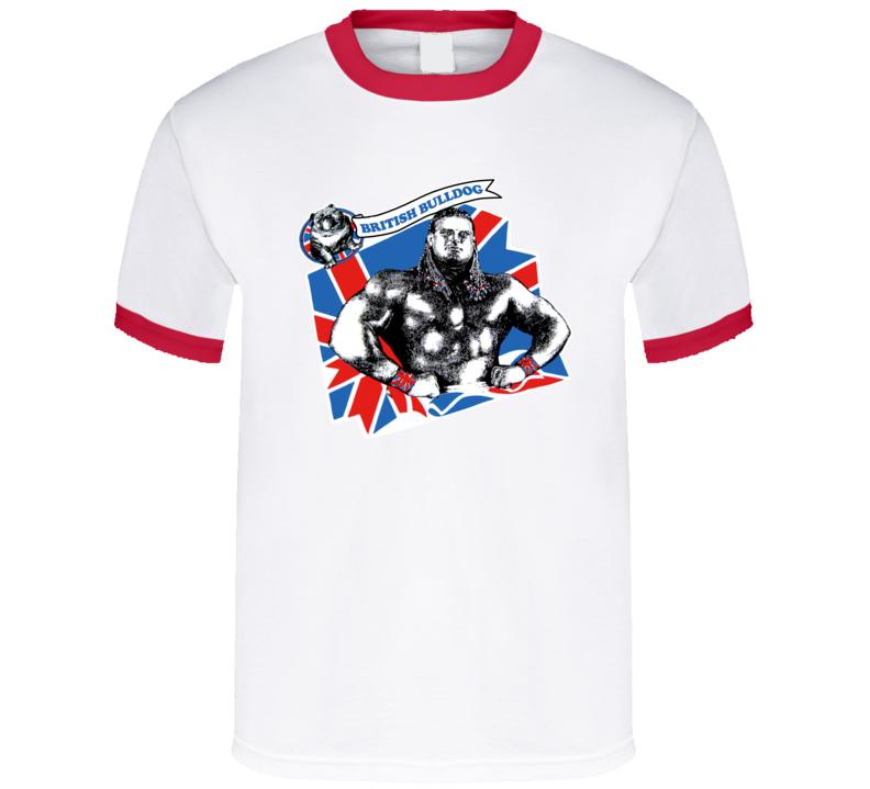 The British Bulldog Retro Wrestling T Shirt