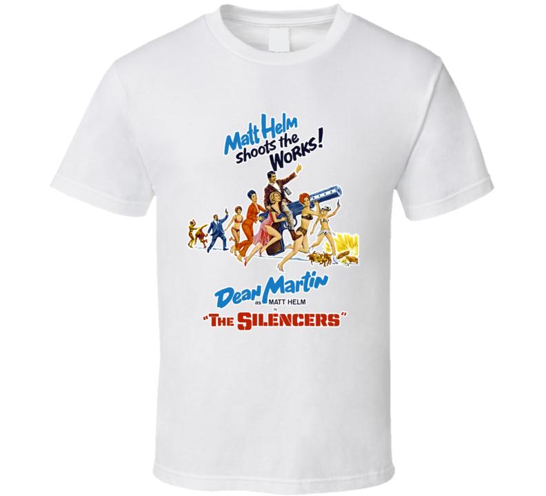 Movie The Silencers 60s Spy Comedy Matt Helm Dean Martin T Shirt