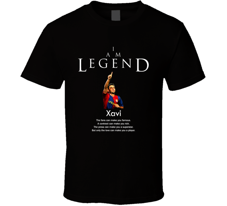 Xavi Spain Legend Soccer Futbol T Shirt