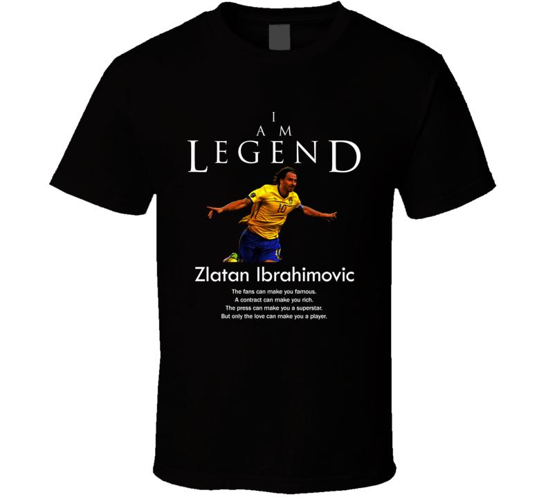 Zlatan Ibrahimovic Sweden Legend Soccer Futbol T Shirt