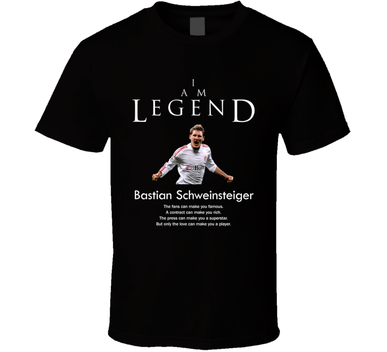Bastian Schweinsteiger Germany Legend Soccer Futbol T Shirt