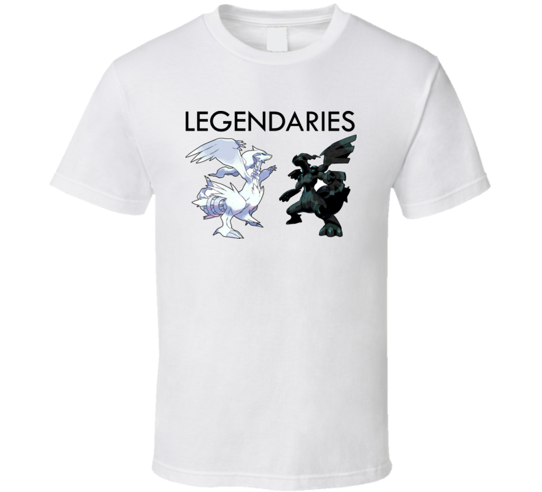Pokemon Black And White Legendaries T Shirt