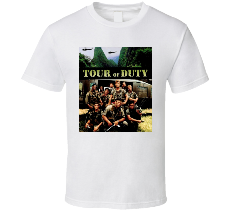 Tour Of Duty 80s TV Show T Shirt