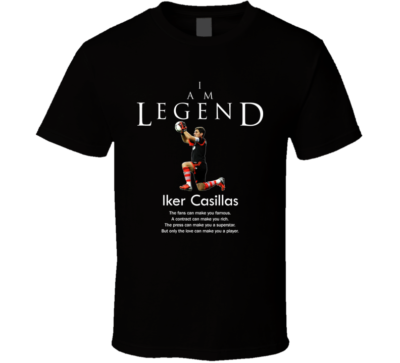 Iker Casillas Spain Legend Soccer Futbol T Shirt