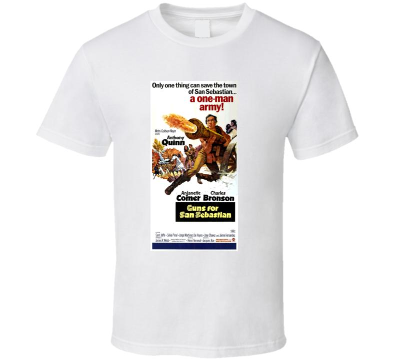 Guns For San Sebastian Western Anthony Quinn Charles Bronson T Shirt