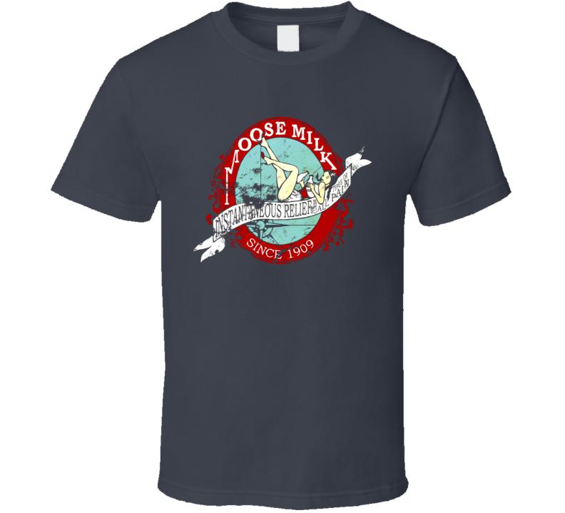 Moose Milk Retro Vintage T Shirt