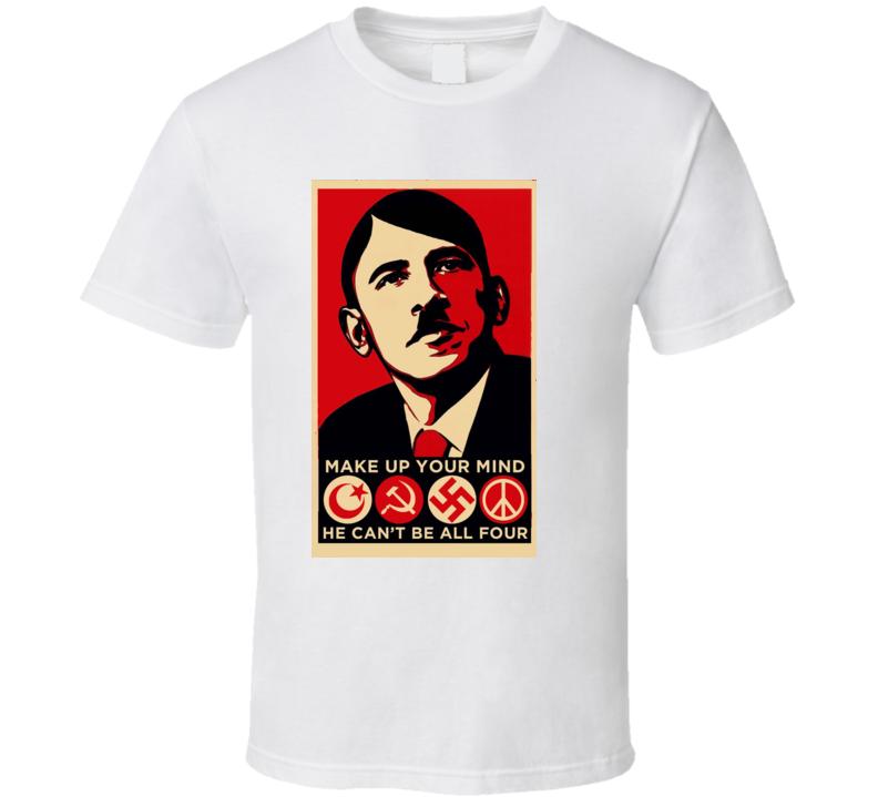 Obama As Hitler Hope Parody T Shirt