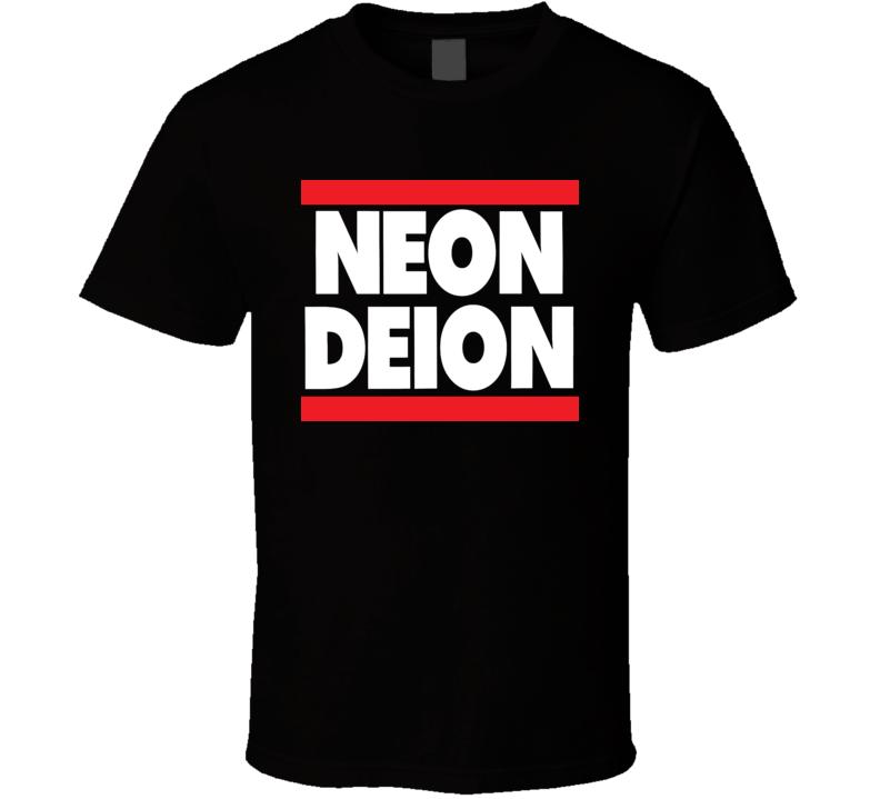 Neon Deion Sanders Primetime Atlanta Sf T Shirt