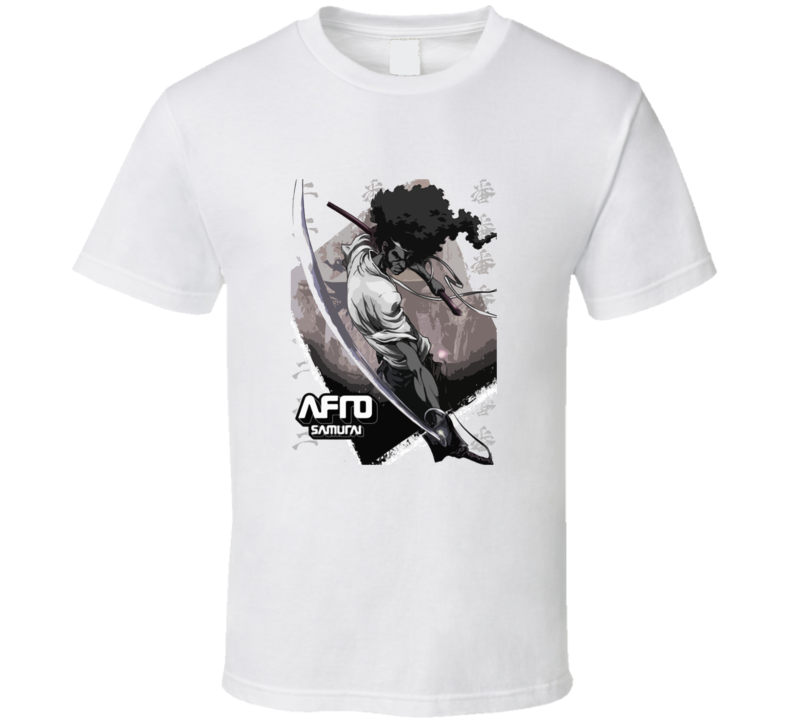 Afro Samurai Anime Manga Samuel L Jackson T Shirt