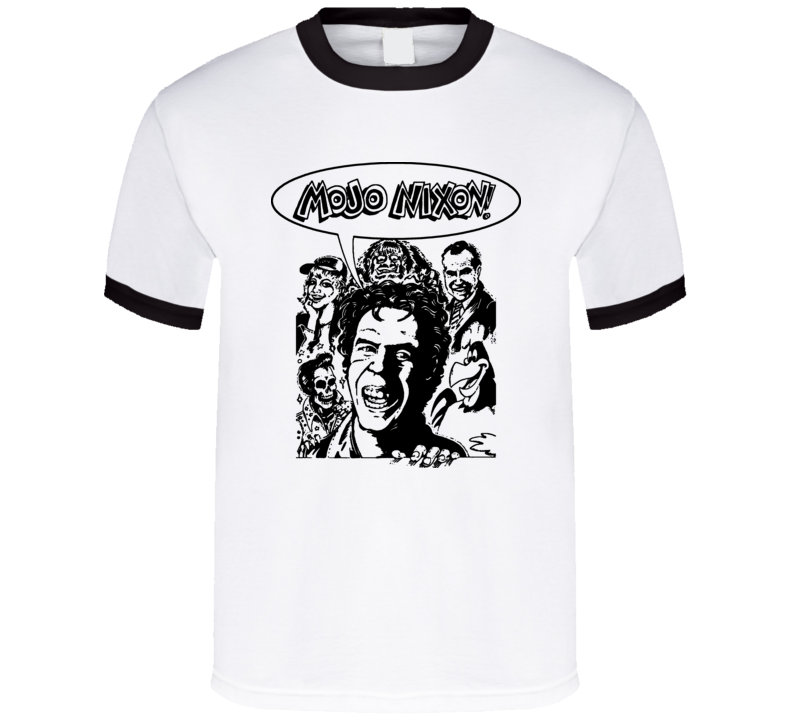 Mojo Nixon Punk Rock Retro T Shirt