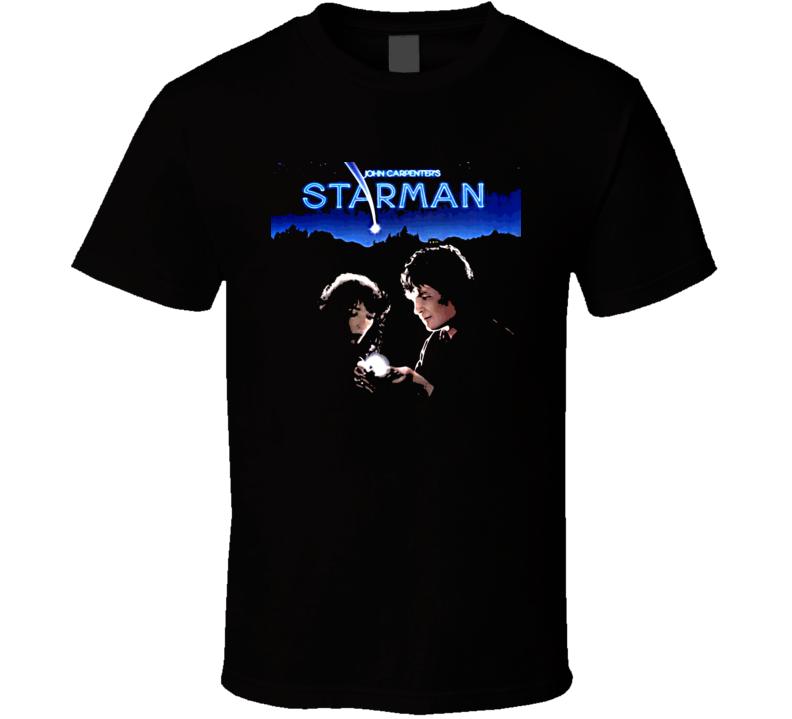 Starman 80s Sci Fi Movie Poster T Shirt