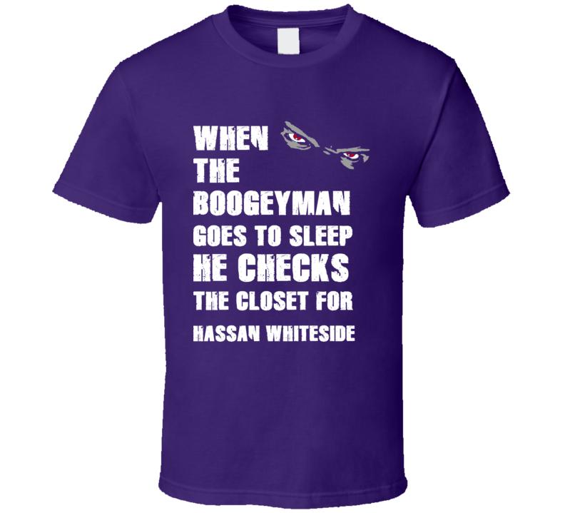Hassan Whiteside California Boogeyman Basketball Hockey Baseball Football T Shirt