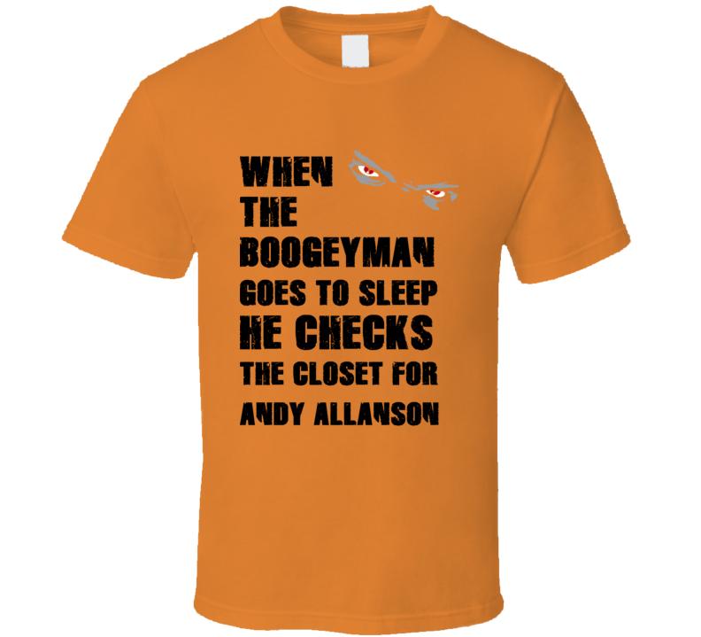 Andy Allanson California Boogeyman Basketball Hockey Baseball Football T Shirt
